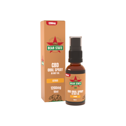 Bear State CBD Citrus MCT Spray 1200mg
