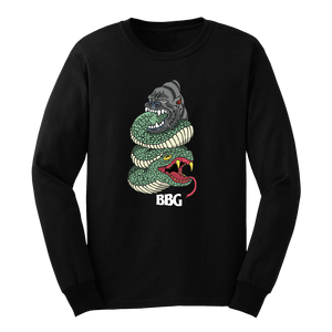 BBG Snake Long Sleeve Tee (Black)