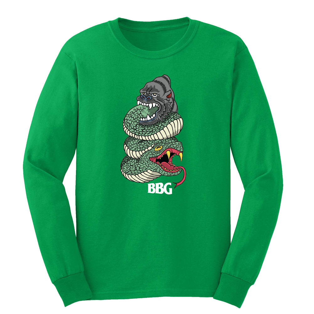BBG Snake (Green) - Long Sleeve Tee