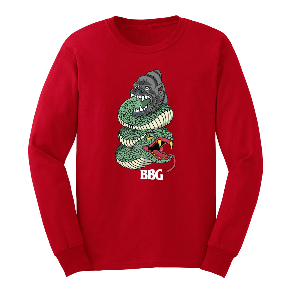 BBG Snake (Red) - Long Sleeve Tee