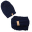 Beanie Set Navy Blue