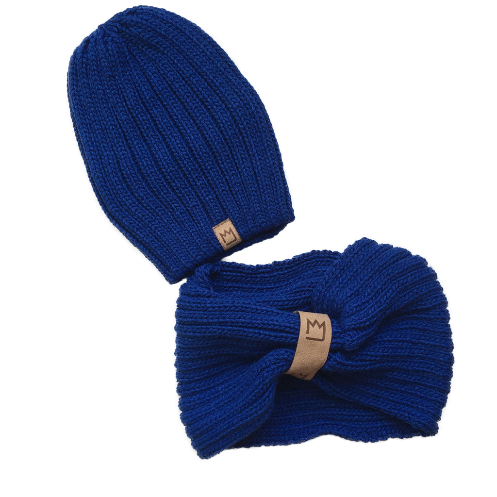 Beanie Set Cornflower Blue