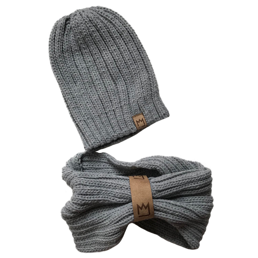 Light Grey Beanie Set