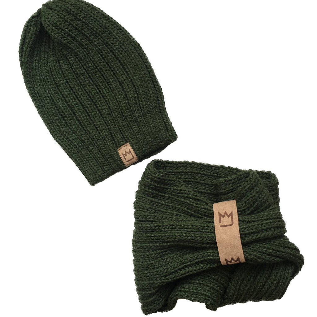 Beanie Set Olive Light
