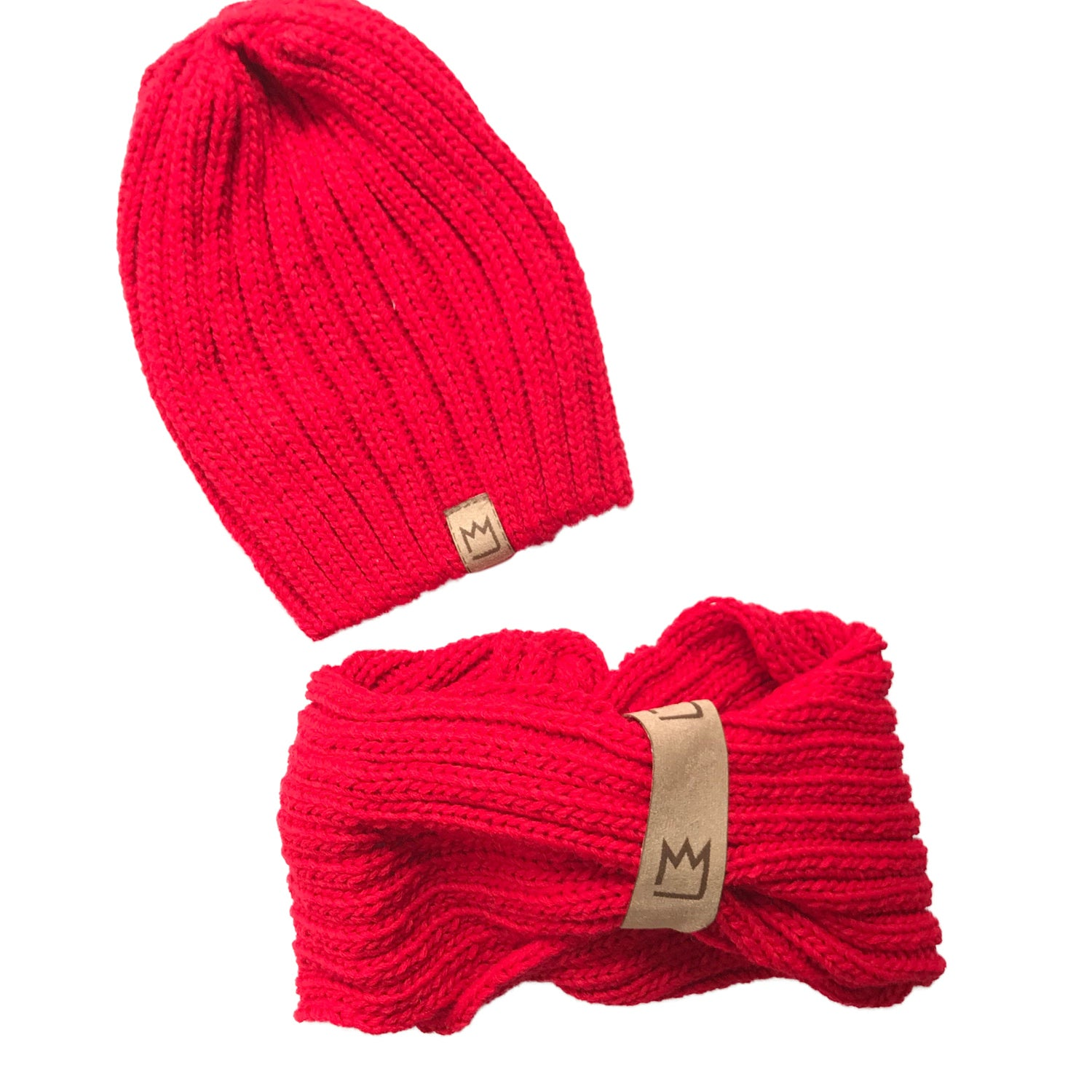 Red Beanie Set