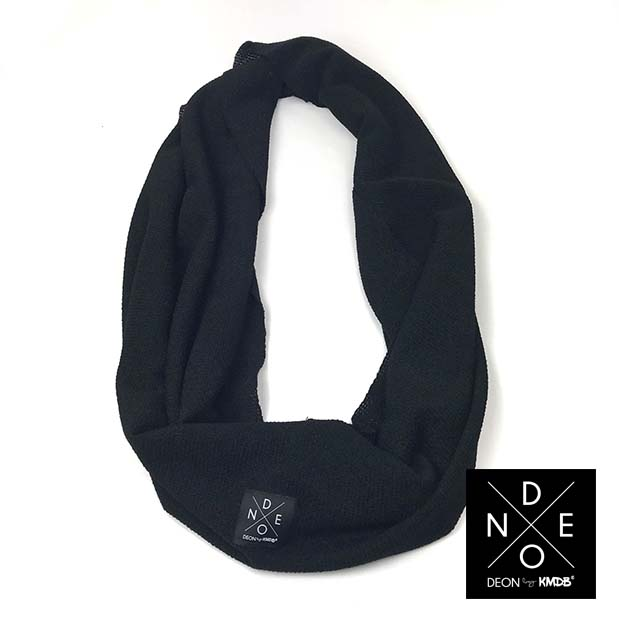 Turtleneck Scarf Black