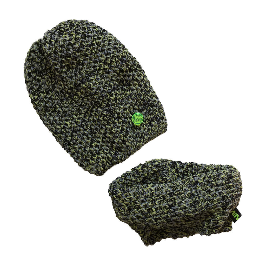 Beanie Set Green to Black