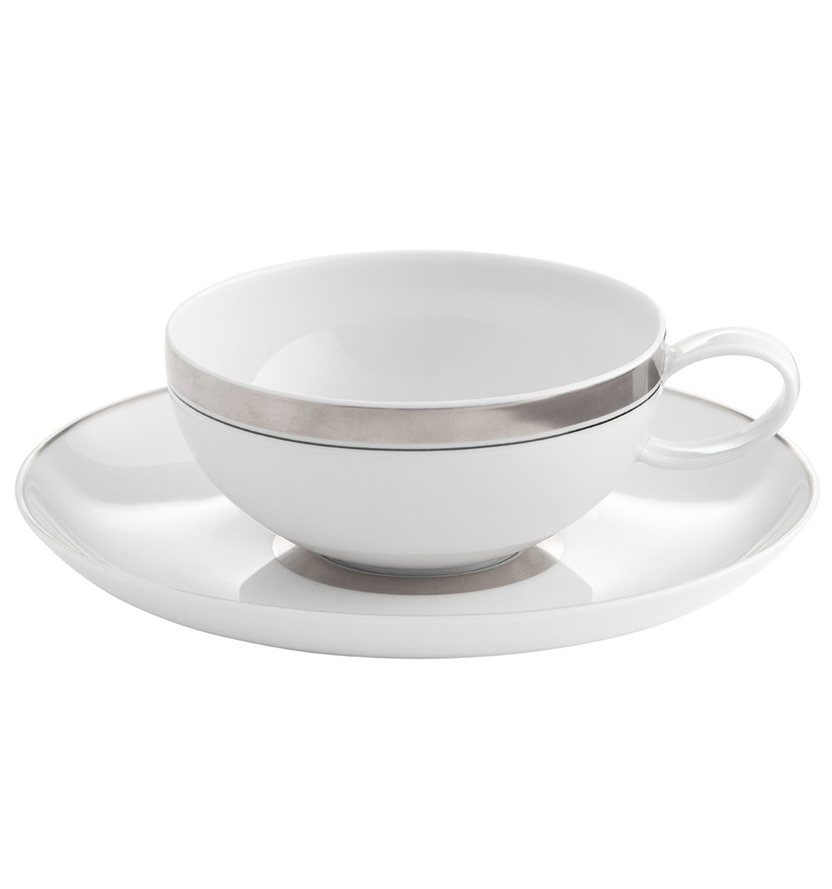 Domo Platinium Breakfast Cup & Saucer Set of 4