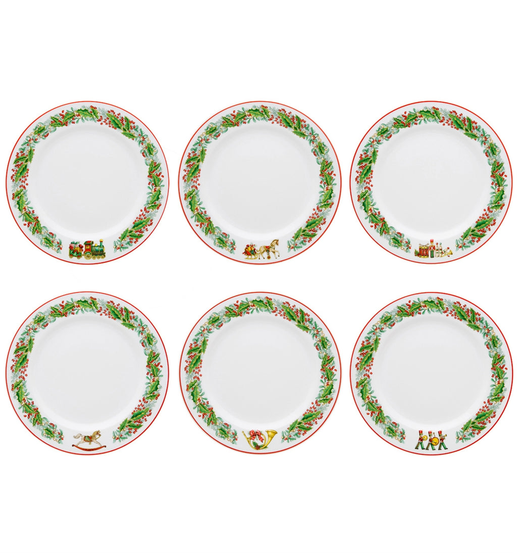 Christmas Magic Dessert Plates Set of 6