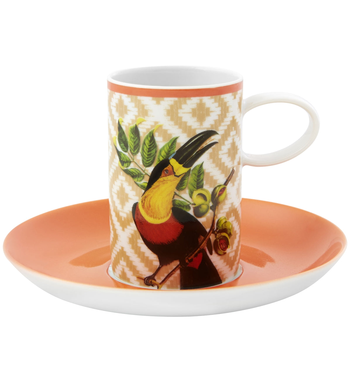 Olhar o Brasil Coffee Cup & Saucer Set of 4