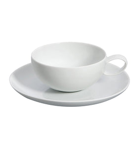 Domo White Tea Cup and Saucer Set of 4