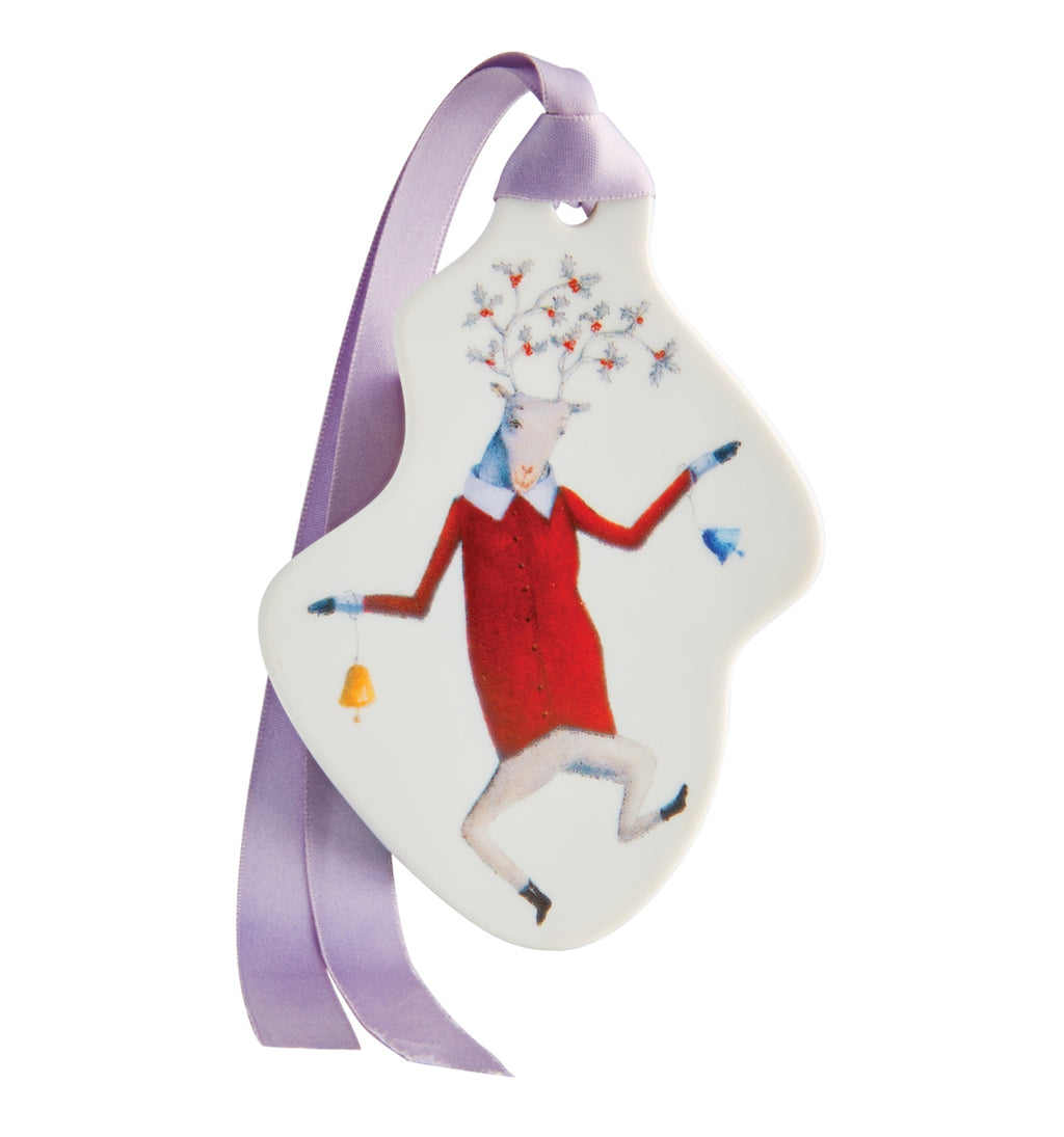 Angels Reindeer With Bells Ornament