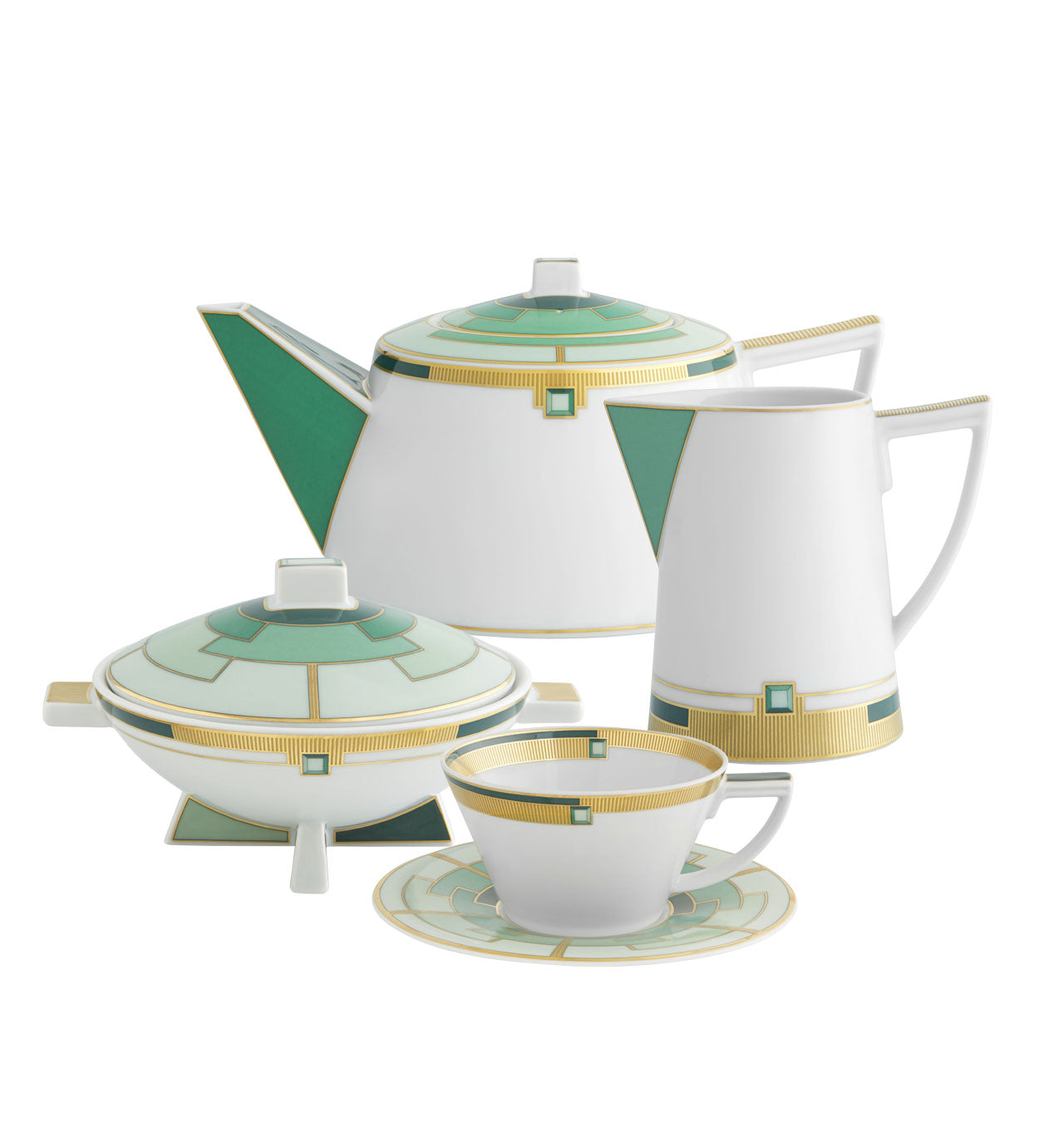Emerald 15 Pieces Tea Set