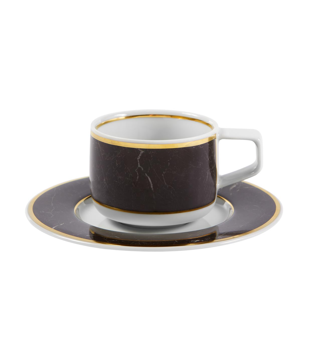 Carrara Coffee Cup & Saucer Set of 4