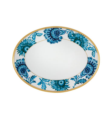 Gold Exotic Small Oval Platter