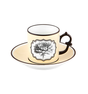 Herbariae Coffee Cup and Saucer Set of 4