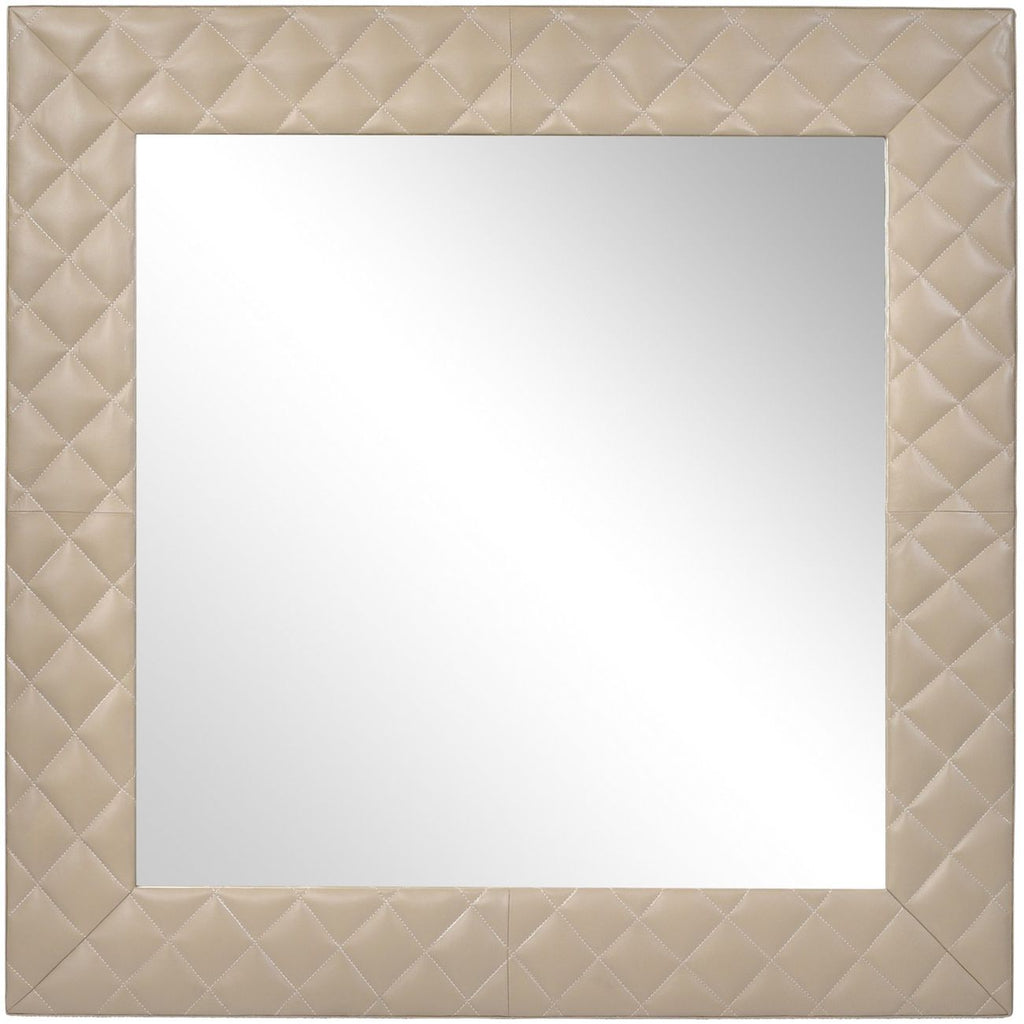 Ecclestone Leather Square Wall Mirror
