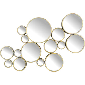 Bubbles Antique Gold Mirror