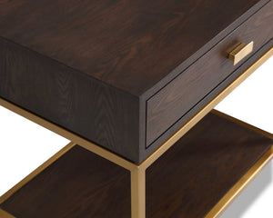 Levi Bedside Table Dark Brown