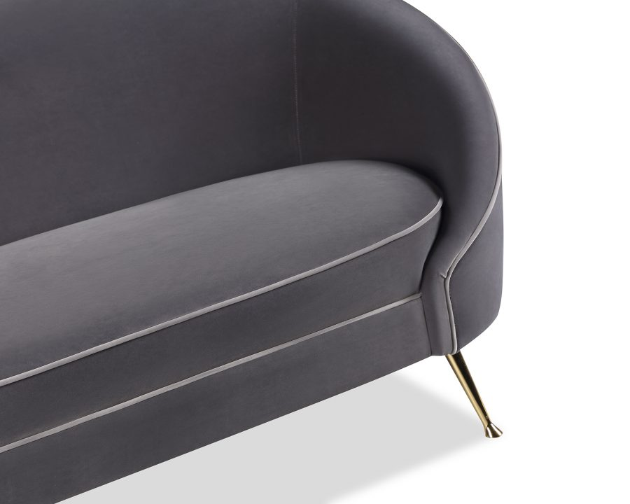 Baxter Sofa Gainsborough Nickel Grey Velvet