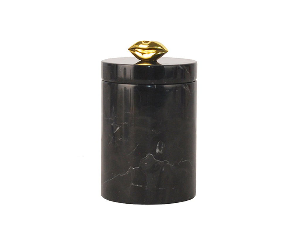 Marble Storage Jar Black