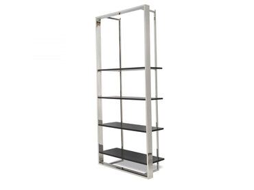 Lennox Bookcase Polished Stainless Steel