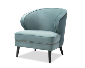 Lindsay Occasional Chair Deep Turquoise Velvet