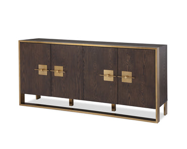 Ophir Sideboard Dark Brown Ash Veneer Dark Brass