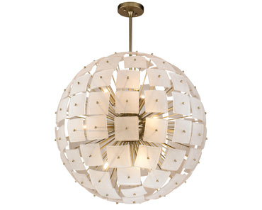 Rialto Pendant Lamp Frosted Glass Gold Colour