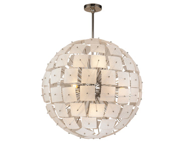 Rialto Pendant Lamp Frosted Glass Nickel