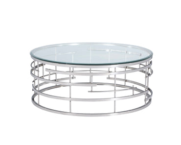 Viena Coffee Table Polished Stainless Steel