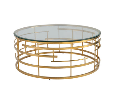 Viena Coffee Table Polished Brass