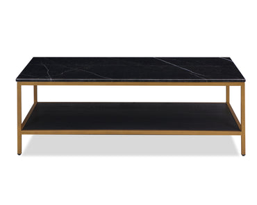 Max Coffee Table Black and White Marble Painted Brass
