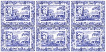 Blue Italian Placemats Set of 6