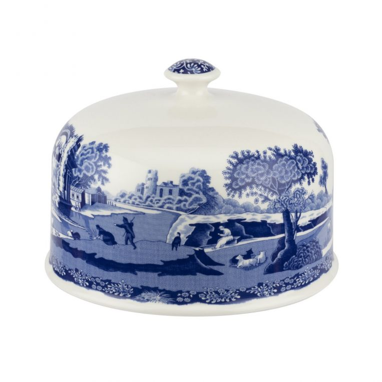 Blue Italian 250th Collection Serving Platter With Dome
