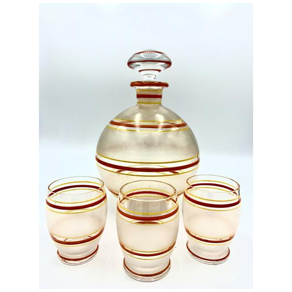 Bohemian Glass Decanter Set