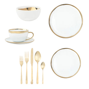 The Gold Dinnerware Collection