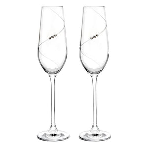 Auris Crystal Champagne Flute Glass Set of 2