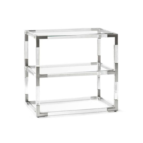 Jacques Two-Tier Side Table Nickel