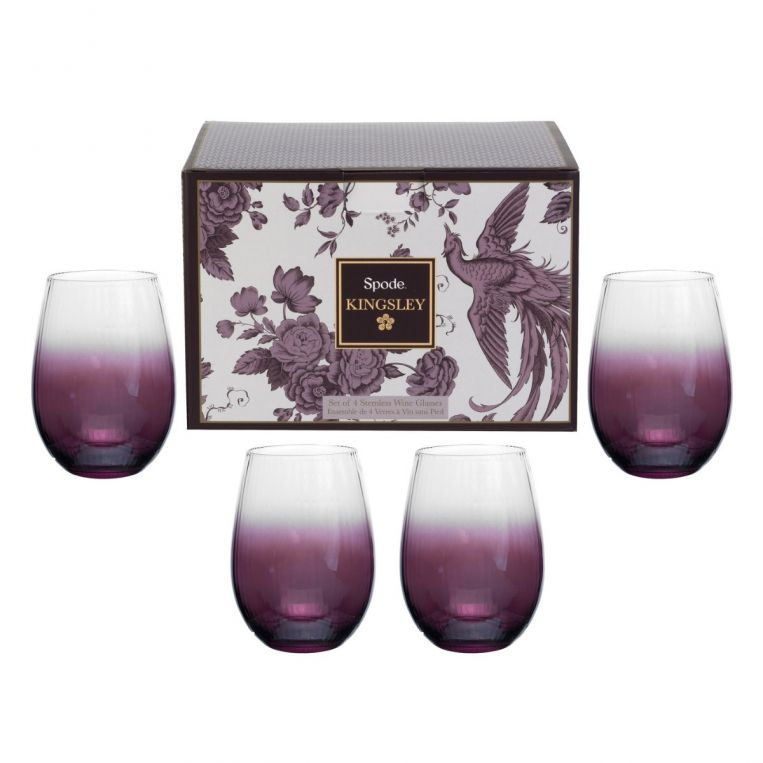 Kingsley Stemless Wine Glass Set of 4
