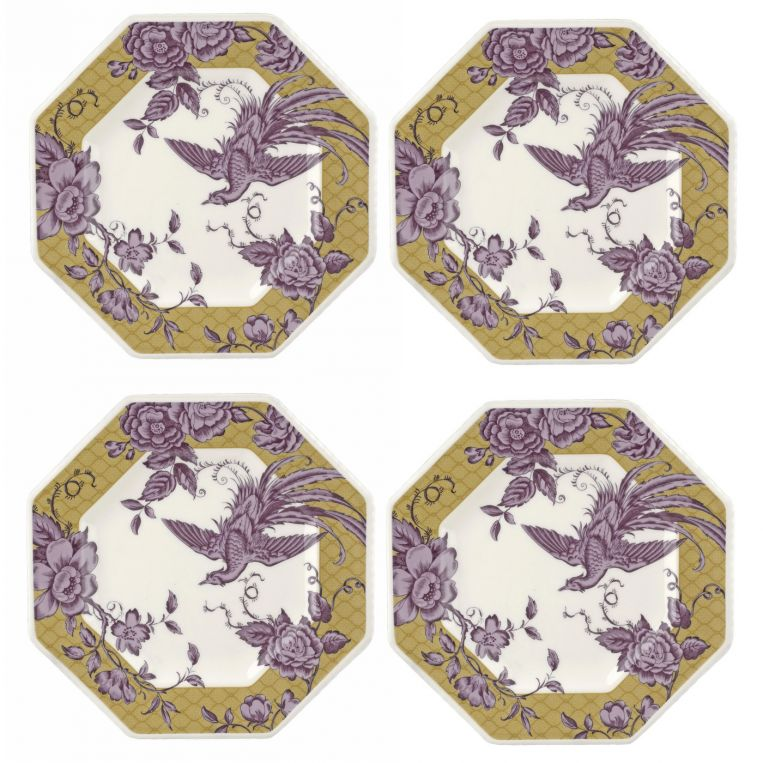 Kingsley Octagonal Plate Set of 4
