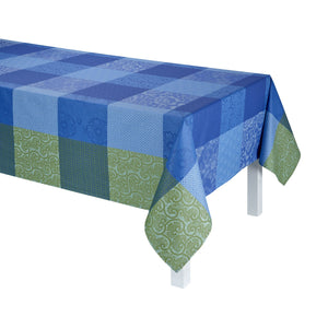 Fleurs De Kyoto Indigo Coated Tablecloth
