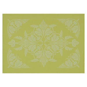"Syracuse Green Coated Placemat 20""x14"" set of 4"