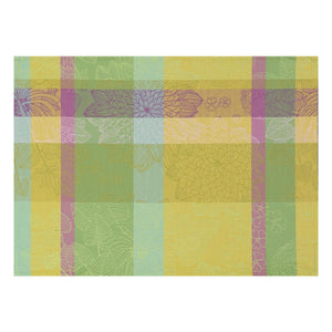 "Marie Galante Lemon Coated Placemat 21"" x 15"" Set of 4"