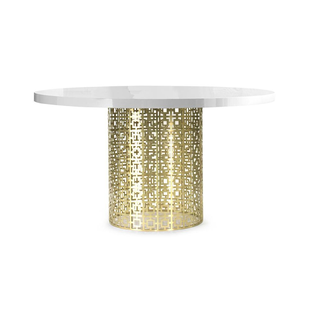 Nixon Dining Table Marble/Brass