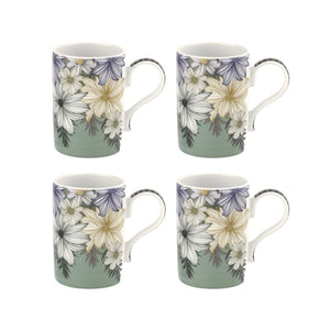 Atrium Floral Mug Set of 4