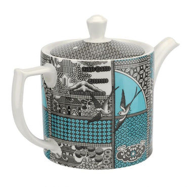 Patchwork Willow Teal Tea Pot