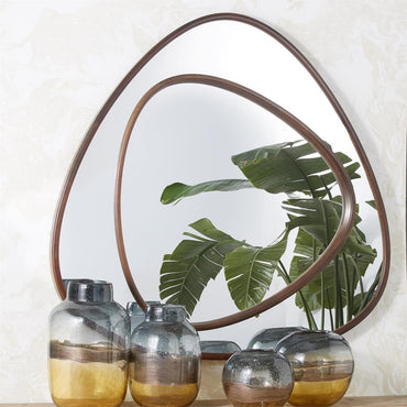 Natural Beech Wood Frame Trapizoid Wall Mirror