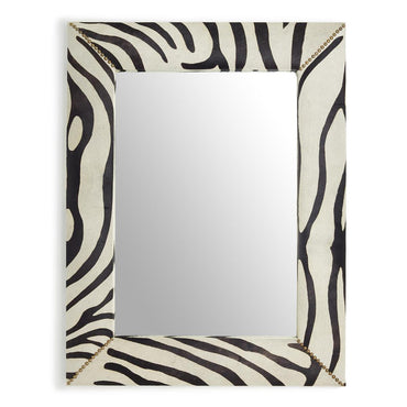 Zebra Cowhide Wall Mirror