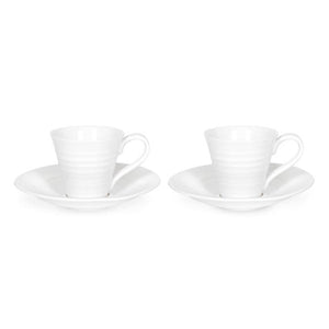 Sophie Conran White Espresso Cup And Saucer Set of 2